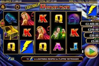 Lightning Horseman Mobile Slot Game