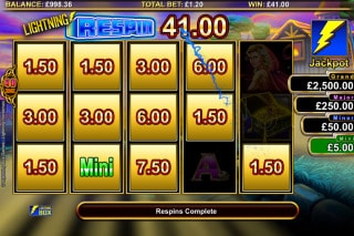 Lightning Horseman Mobile Slot Respin