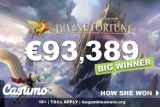 Casumo Slots Player Wins Big On Divine Fortune