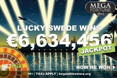Swedish Casino Player Wins €6.3 Million Mega Fortune Jackpot