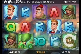 Outerspace Invaders Mobile Slot Game