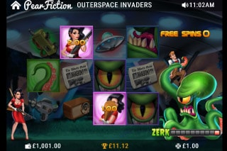 Outerspace Invaders Mobile Slot Bonus