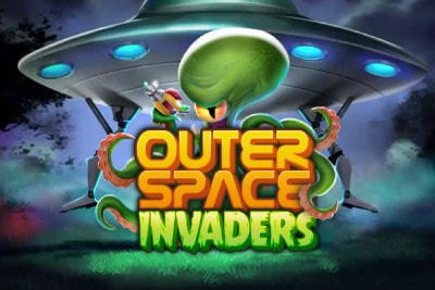 Outerspace Invaders Mobile Slot Logo