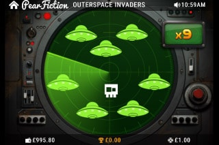 Outerspace Invaders Slot Radar Bonus
