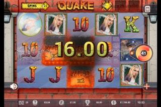 Quake Mobile Slot Win