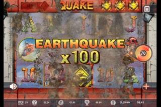 Quake Mobile Slot Earthquake x100
