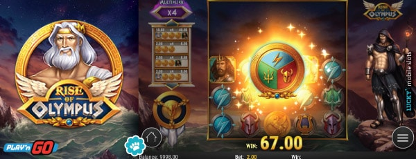 Rise of Olympus Mobile Slot Game Win