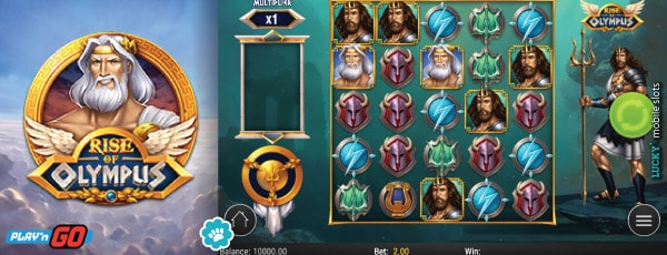 Rise of Olympus Mobile Slot 5x5 Grid Game