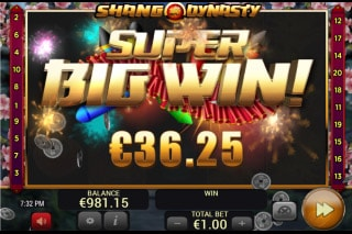 Shang Dynasty Mobile Slot Big Win