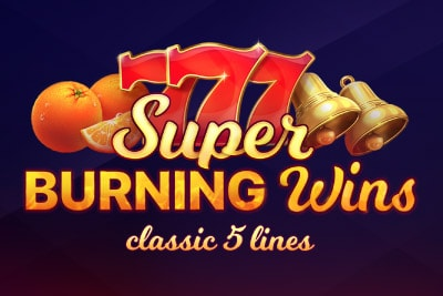 Super Burning Wins Mobile Slot Logo