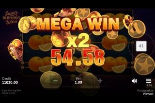 Super Burning Wins Mobile Slot Mega Win