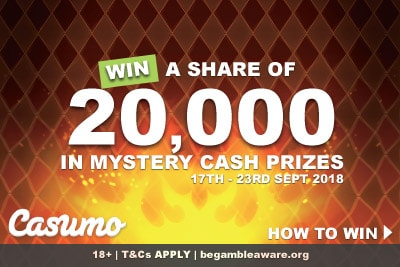 Win A Share of 20,000 In Real Cash Prizes At Casumo