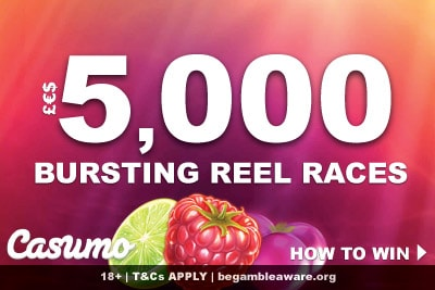 Win Up To 5,000 Every Night At Casumo Reel Race Weekend