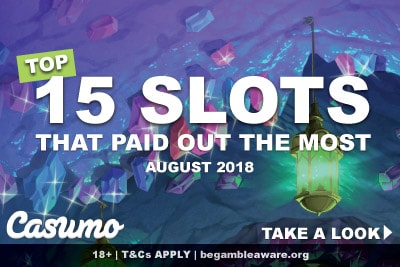 Biggest Slot Wins At Casumo Casino