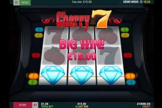 Cherry 7 Diamond Slot Win