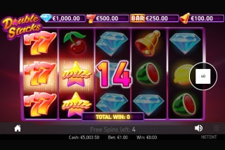 Double Stacks Mobile Slot Free Spins Win