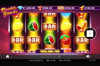 NetEnt Double Stacks Mobile Slot Free Spins Win