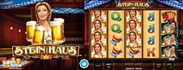 Greentube Stein Haus Slot Game With Stacked Symbols