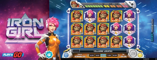 Iron Girl Slot Game Multipliers