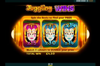 Juggling Jokers Mobile Slot Bonus Round