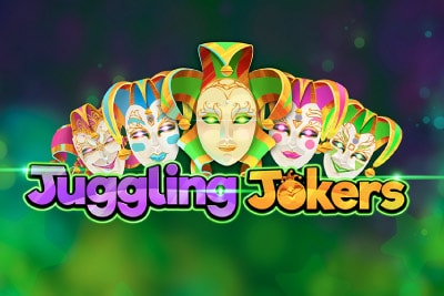 Juggling Jokers Mobile Slot Logo