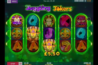 Juggling Jokers Mobile Slot Machine