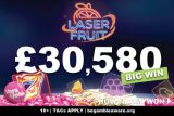 Laser Fruit Slot Machine Pays Out Big At Vera&John