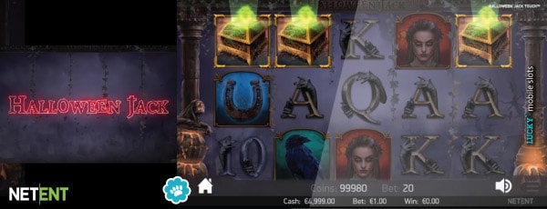 NetEnt Halloween Jack Mobile Slot at €1.00 Bet