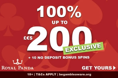 Get Your Royal Panda Casino Bonus Exclusive