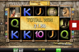 Theatre Of Rome Mobile Game Win