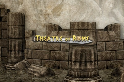 Theatre Of Rome Mobile Slot Logo