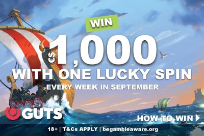Win €$1,00 Real Cash At Guts Every Week In September