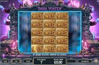 Dark Vortex Mobile Slot Stacked Wilds