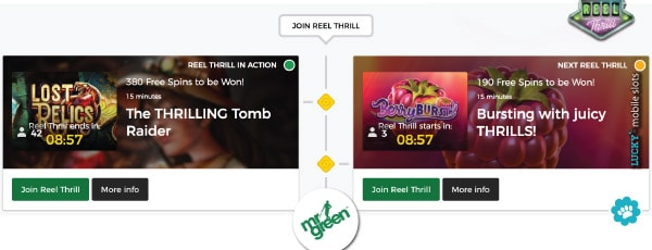 Example Mr Green Reel Thrill Slot Tournaments