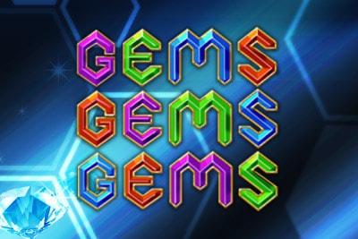 Gems Gems Gems Mobile Slot Logo