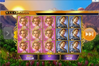 IGT MegaJackpots Golden Goddess Slot Stacked Symbols