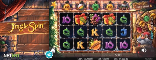Jingle Spin Mobile Slot Game Free Spins Example
