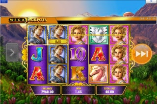 MegaJackpots Golden Goddess Mobile Slot Game