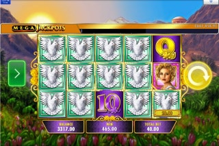 MegaJackpots Golden Goddess Slot Win