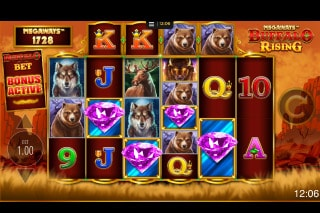 Megaways Buffalo Rising Mobile Slot Bonus