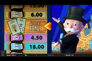 Monopoly Big Money Reel Slot Bonus Wheel
