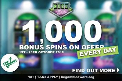 1,000 Bonus Spins On Offer Every Day In Mr Green Casino Reel Thrills