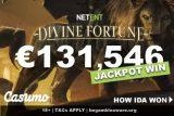 NetEnt Casumo Casino Jackpot Win on Divine Fortune
