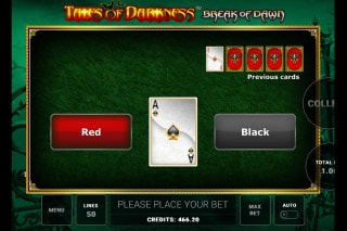 Tales of Darkness Break of Dawn Slot Gamble Feature