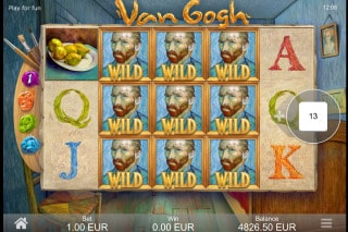 Van Gogh Mobile Slot Wilds Win