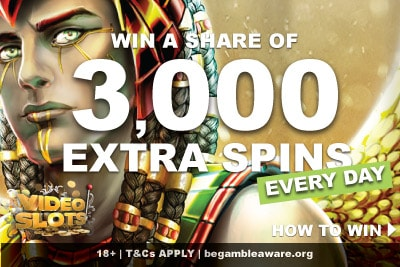 Win A Share of 3,000 Videoslots Casino Extra Spins Bonus
