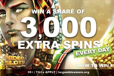 Win A Share of 3,000 Videoslots Casino Extra Spins Bonus