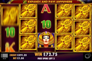 Ancient Egypt Classic Mobile Slot Free Spins Win
