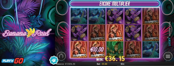 Banana Rock Slot With Encore Multiplier Feature
