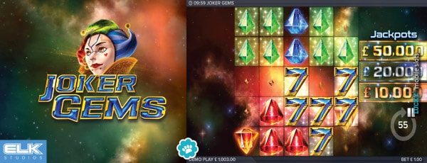 Elk Studios Joker Gems Slot Machine With Jackpots